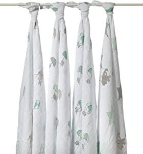 aden + anais Up Up and Away Muslin Swaddle (Pack of 4)