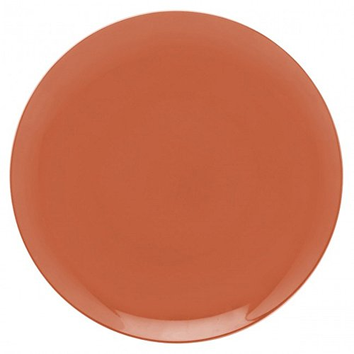 Guy Degrenne 207691 Modulo Lot de 6 Assiettes Porcelaine Orange 27,2 x 27,2 x 1,3 cm