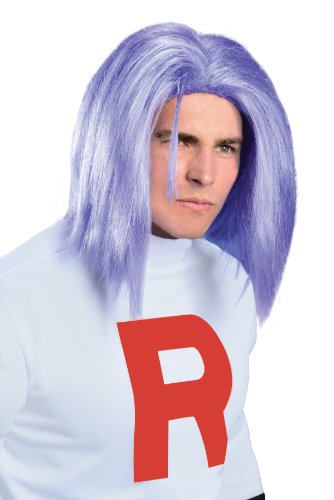 Pokémon James Adult Wig, Purple, One Size