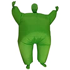 Green Inflatable Body Suit - Adult Medium