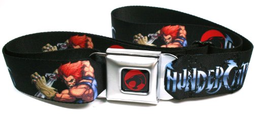 Thundercats Lion-O Poses Black Seatbelt Belt