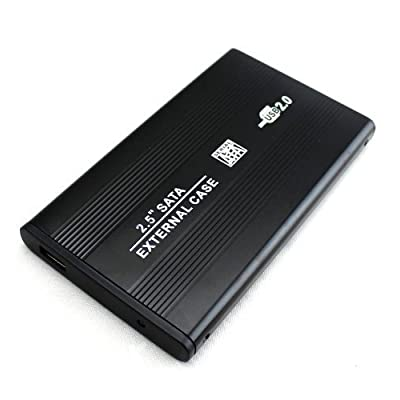 """OPHION® 2.5"""" IDE Hard Disk Drive to USB 2.0 External Case Enclosure with USB Cable, Screw and Screw Driver - Ultra..."""
