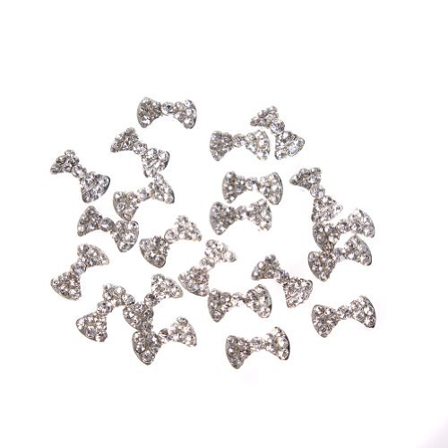 350buy 20x 3D Clear Alloy Rhinestones Bow Tie Nail Art DIY Decorations