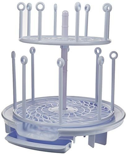 NEW The First Years Spinning Drying Rack, White, The First Years Spin Stack Drying Rack (Plastic Coated Butcher Paper compare prices)