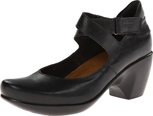 Naot Footwear Women's Hypnosis Black Raven Leather Pump 39 (US Women's 8) M