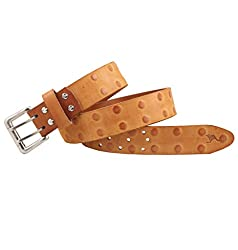 Kangoo Tan Casual Dots Jeans Double Boucle Panther Leather Belt