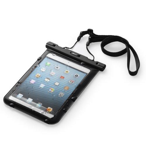 Acase 防水ケース ブラック ストラップ 付 for 7インチ タブレット iPad mini / iPad mini2 / iPad mini3 / Nexus7 2 2013 / ASUS Fonepad / ASUS MeMO Pad HD7 ME173 / AQUOS PAD / Lenovo IdeaTab 防水保護等級 : IPx8