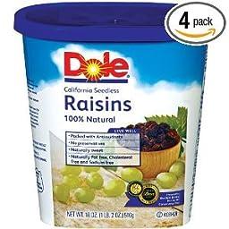 Dole Raisins California Seedless Plumper & Moister, 18 OZ (Pack of 12)