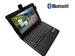 Acer Iconia Bluetooth Leather Case with DETACHABLE Wireless Bluetooth Keyboard for Iconia A700, A200, A510 10.1 Tablet by GSAstore™ - Black (Tablet Not Included)
