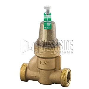 Watts 11/4 N55B Water Pressure Regulator Valve with Brass Housing Bronze, 11/4""