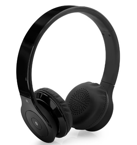 Aduro Amplify Sb10 Bluetooth Wireless Stereo Headphones / Headset With Built-In Mic (Retail Packaging) (Black)