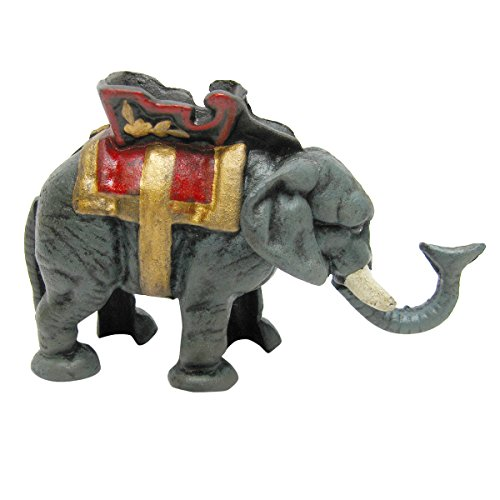 Design Toscano Circus Elephant Collectors` Die Cast Iron Mechanical Coin Bank