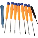 (9 Items Combo) Tool Repair Kit Precision Screw Driver Set Torx + Flat Head + Safe Plying Prying Pry Tool for Motorola