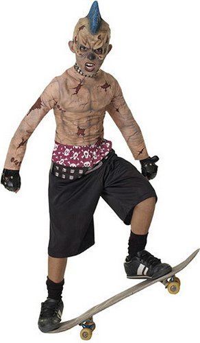 [Zombie Skate Punk Costume - CHILD UK LARGE by Rubies] (Zombie Skate Punk Costumes)