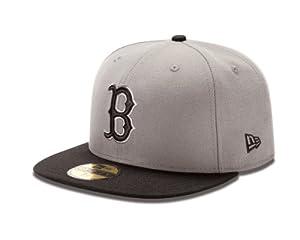 MLB Boston Red Sox 2Tone Storm Gray/Black 59Fifty Baseball Cap, 6.5-Inch