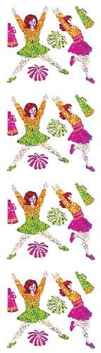 Jillson Roberts Prismatic Stickers, Mini Cheerleaders, 12-Sheet Count (S7200)