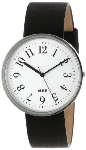 Alessi AL6003 - Reloj analógico automático unisex, correa de cuero color negro