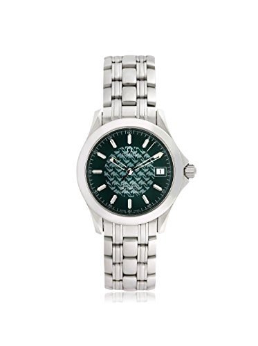 Omega Men's Pre-Owned Seamaster Jacques Mayol Green/Stainless Steel Watch