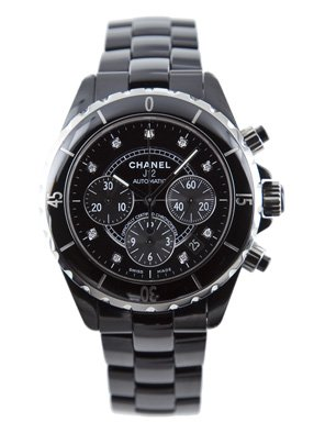 Chanel J12 Black Ceramic Mens Watch H2419