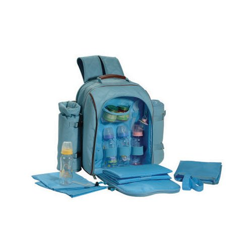 Picnic Gift 8010-BL1 Mini Me Deluxe Insulated Baby Back Pack W/blanket