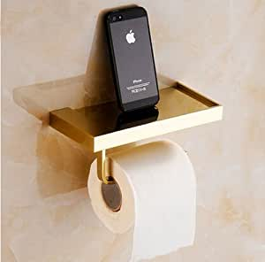 Wall Mounted Toilet Tissue Paper Holder With