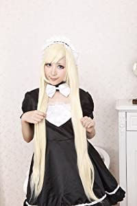 The Humanoid Computer Angel Heart Grumble Fox Snow Path Off-White Long Straight Hair Cosplay Wig
