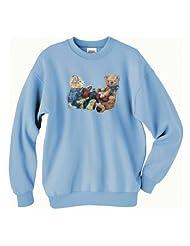 Christmas Bears Sweatshirt XLarge Light