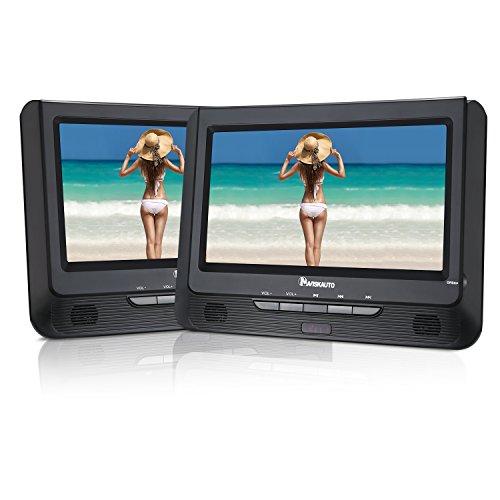 NAVISKAUTO-9-Kopfsttzenmonitor-Kopfsttze-Tragbarer-DVD-Player-mit-zustzlichem-Bildschirm-5-Stunden-Abspielzeit-mit-Kopfsttzenhalterung-eingebauter-Batterie-untersttzt-SDUSB-AV-INOUT-CH0909B