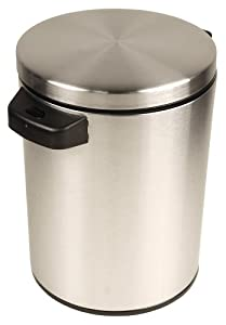 NST Nine Stars DZT-5-1S Infrared Touchless Automatic Motion Sensor Lid Open Trash Can, 1.3-Gallon