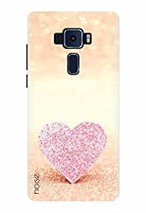 Noise Designer Printed Case / Cover for ASUS ZENFONE 3 ZE520KL 5.2 Inch screen size / Patterns & Ethnic / Blingy Pink Heart Design