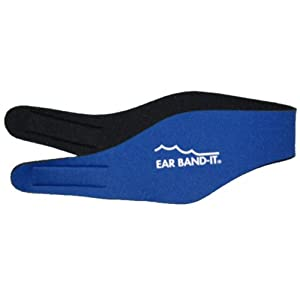 Large (ages 10 to adult) Blue EAR BAND-IT® Physician Developed Swimming Headband