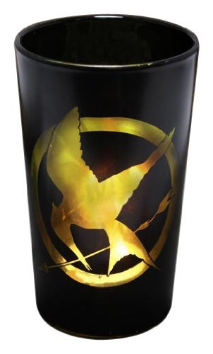 "The Hunger Games Movie Votive Glass Tea Light Shadow Casting ""Glass Mockingjay"""