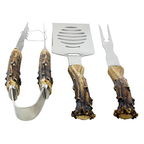 Antler Handle Grilling Set for BBQ