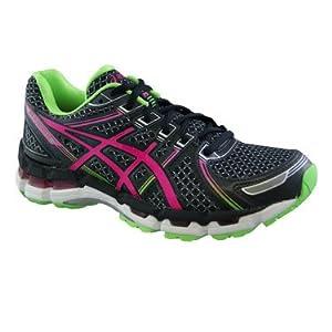 ASICS Women's Gel-Kayano 19 Running Shoe,Black/Electric Pink/Apple,7.5 M US