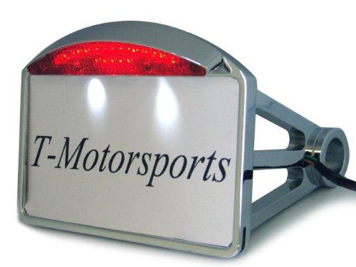Tms Side Mount Chrome License Plate Frame Led Integrated Tail Brake Light For Harley Davdison Motorcycle Copper Bobber Custom