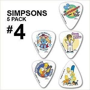 5-x-plettro-plettri-simpsons-pack-4