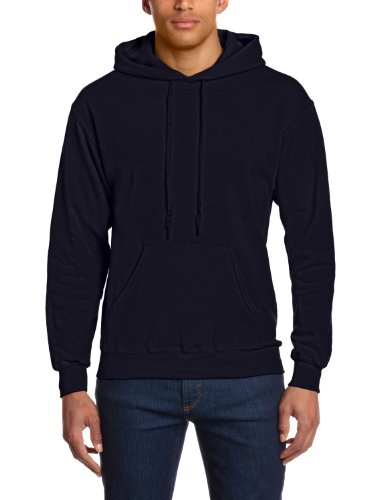 Fruit of the Loom Lightweight Hooded Sweat - Deep Navy - S
