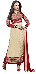 Anny Creation Women Velvet & Net Dress Material (Apsara-2-9008-1 _Maroon _Free Size)