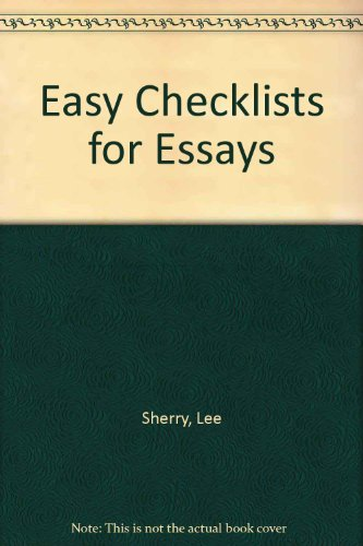 Easy Checklists for Essays