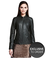 Autograph Leather Bomber Jacket