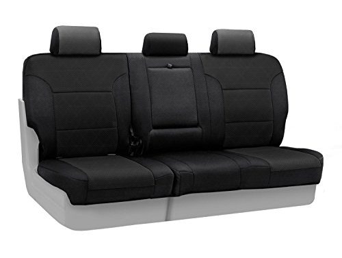 Coverking Custom Fit Rear 60/40 Bench Seat Cover For Select Kia Sorento Models - Spacermesh Solid (Black) front-17841
