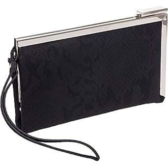 Kenneth Cole Reaction Black Snake Frame Wristlet Wallet