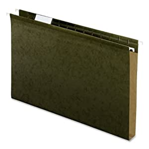 Pendaflex 4153X1 Hanging Box Bottom Folder, Standard Green, Legal, 25 Per Box