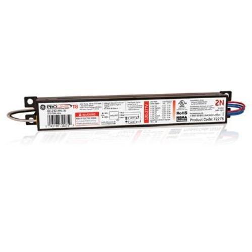 Ge Lighting 72275 Ge232-Mv-N 120/277-Volt Multi-Volt Proline Electronic Fluorescent T8 Instant Start Ballast 2 Or 1 F32T8 Lamps