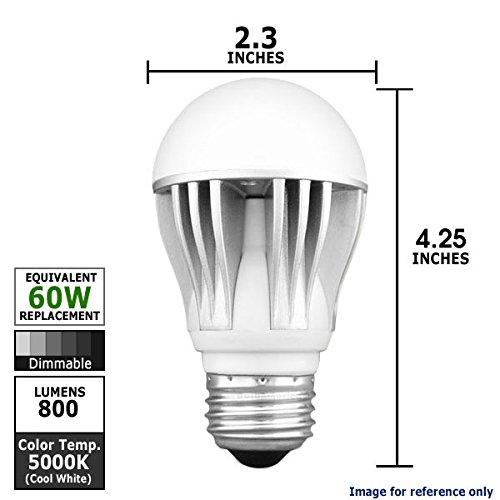 Kobi Led | A19 | 12 Watt = 60 Watt | 800 Lumens | 5000K Warm White | Dimmable