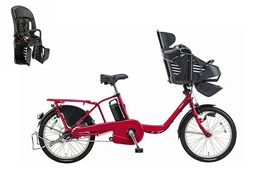 2016年モデル Panasonic【パナソニック】 Gyutto mini DX【ギュットミニDX】 幼児2人同乗対応電動自転車 20インチ +純正リヤチャイルドシート(NCD366AS) (パールクリアレッド)
