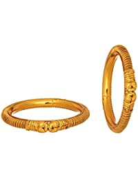 Mansiyaorange Party Wear Casual Elephant One Gram Gold Plated Bangle For Women
