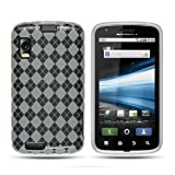 Clear White Checker Gel Premium Design TPU Cover Case for Motorola Atrix 4G  AT T 