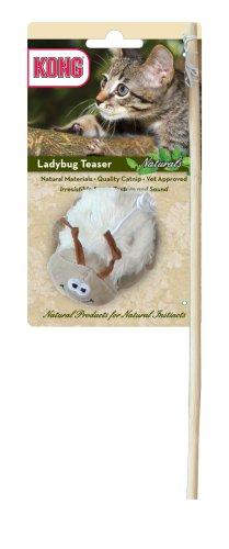 KONG Naturals Ladybug Teaser Cat Toy