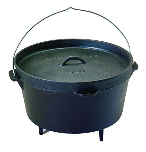Texsport Cast Iron Dutch Oven with Legs, Lid, Dual Handles and Easy Lift Wire Handle. (Medium Dutch Oven compare prices)